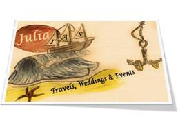 Logo and link to the official web page of Julia & IAS Nika Travel, Weddings and Events