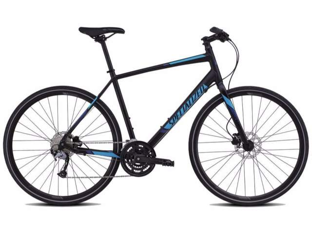 Specialized Sirrus Sport Disc, male frame, frame size S; colour: black / cyan